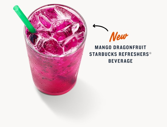 New Mango Dragonfruit Starbucks Refreshers® Beverage