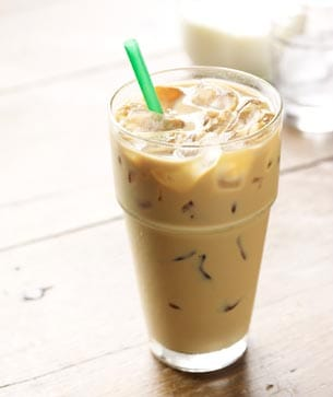 Iced Skinny Flavored Latte Starbucks Coffee Company