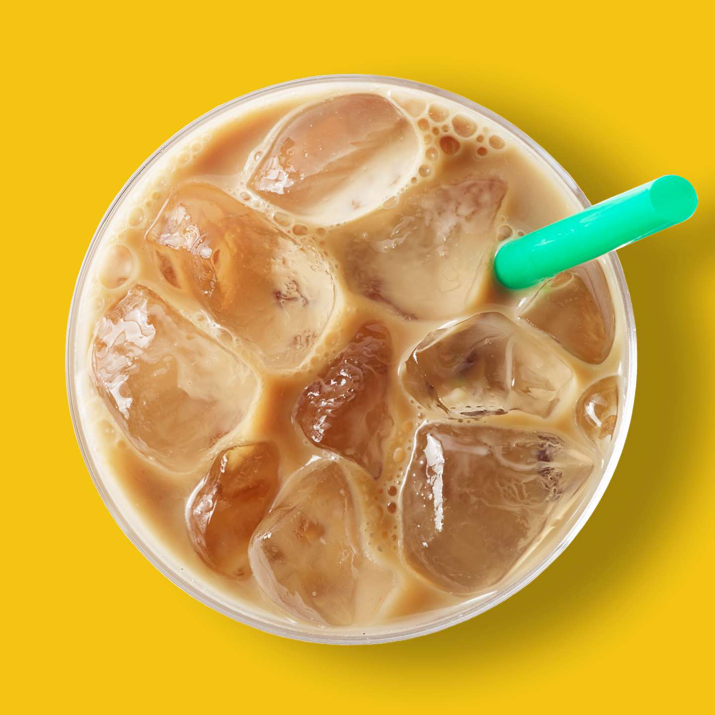 Iced Starbucks Blonde Vanilla Latte Starbucks Coffee Company