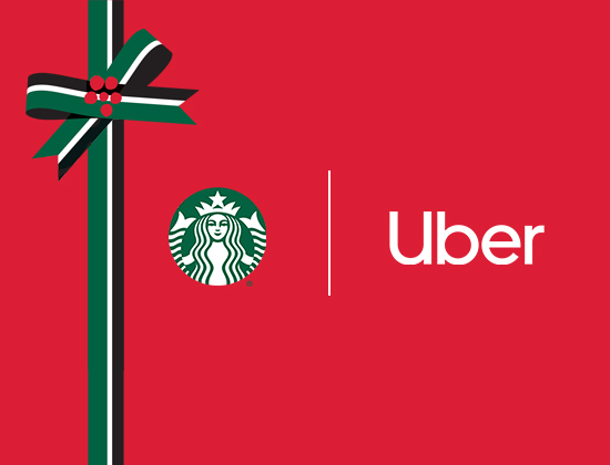 Starbucks and Uber