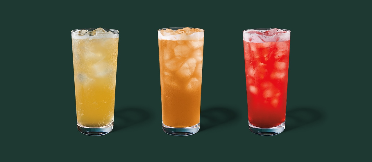 Iced Green Tea with Lemonade, Iced Black Tea with Lemonade and Iced Passion Tango® Tea with Lemonade