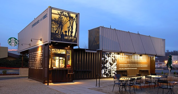 Leed certified stores starbucks coffee company for Store building design
