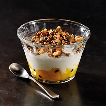 Yoghurt with Granola, Mango & Passion Fruit