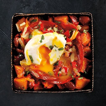 Spicy Chorizo, Poached Egg and Potato