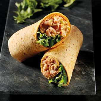 Deep South Inspired Prawn Wrap