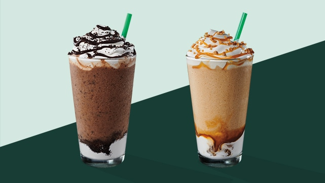 Mocha Cookie Crumble Frappuccino? blended beverage Caramel Ribbon Crunch Frappuccino? blended beverage