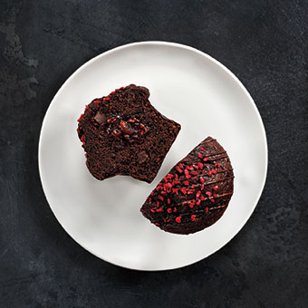 Raspberry & Chocolate Muffin