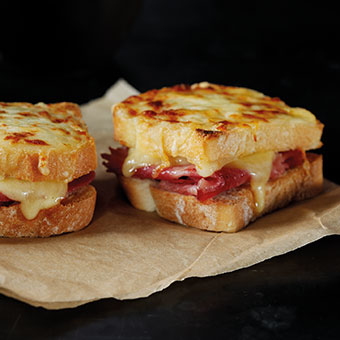 Mini Grilled Cheese & Ham Toastie