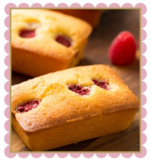 Raspberry Passion Fruit Loaf Cake