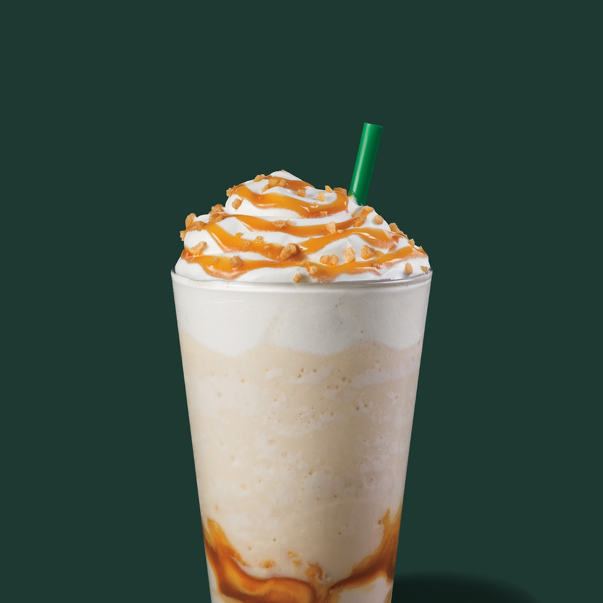 Caramel Ribbon Crunch Creme Frappuccino Blended Beverage Starbucks Coffee Company