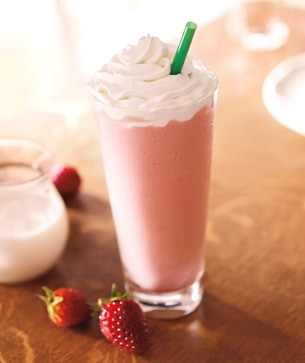 Strawberry Birthday Cake Drink