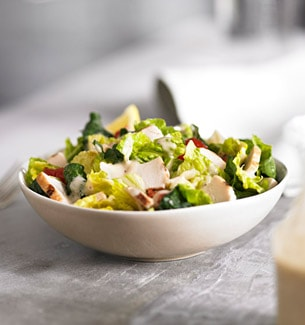 Chicken & Greens Caesar Salad Bowl