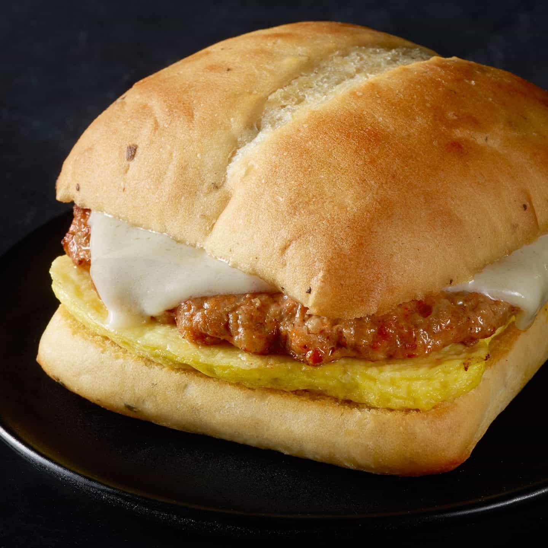 Spicy Chorizo, Monterey Jack & Egg Sandwich: Starbucks