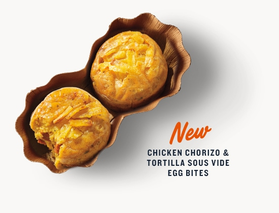 New Chicken Chorizo and Tortilla Sous Vide Egg Bites