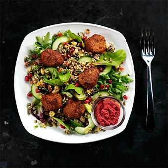 Falafel, Quinoa & Lentil Salad