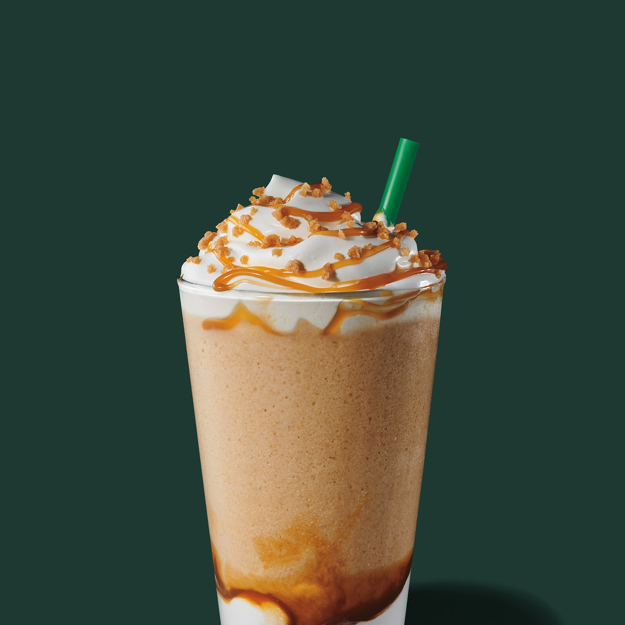 Caramel Ribbon Crunch Frappuccino Blended Beverage Starbucks Coffee Company