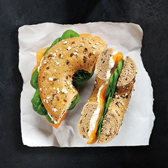 Smoked Salmon & Soft Cheese Bagel