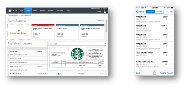 Starbucks Concur EReceipts Guide Starbucks Coffee Company - App to create receipts