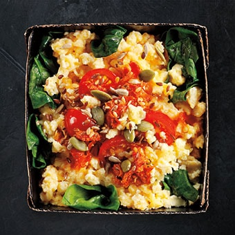 Super Scrambled Eggs, Tomato & Spinach