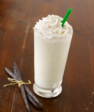 How to make a vanilla bean frappuccino with coffee