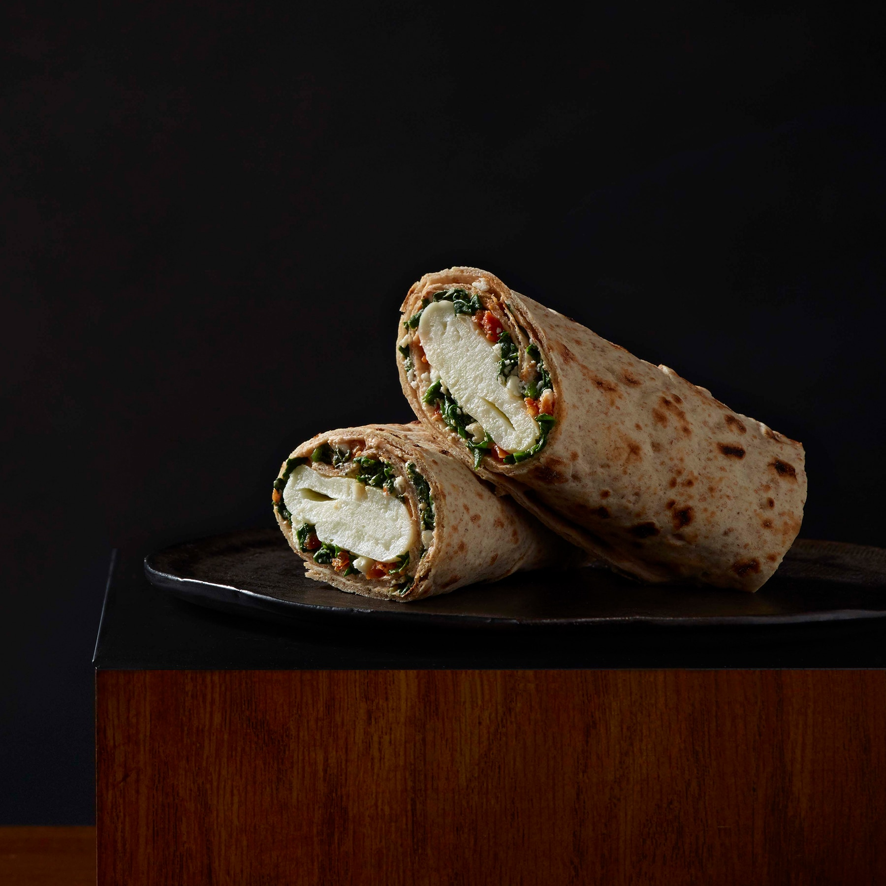 Spinach, Feta & Cage Free Egg White Breakfast Wrap