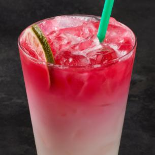 This Refreshing Ombré Pink Drink Combines Our Light Fruity Cool Lime Starbucks Refreshers Beverage With Creamy Coconutmilk And A Splash Of Teavana
